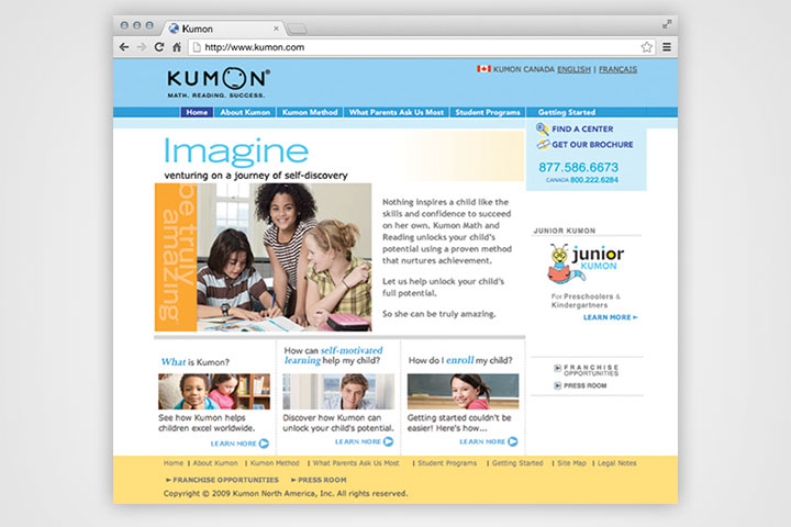 Kumon-Website-Home